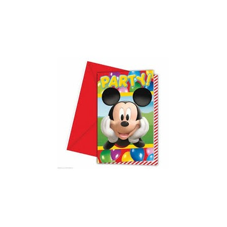 Pack 6 Invitaciones Mickey