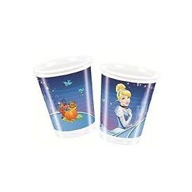 Pack 8 vasos Cenicienta