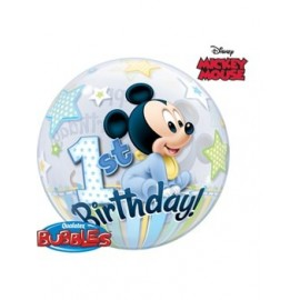 Globo Bubble Mickey Mousse 1 año