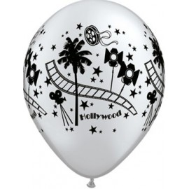 Globo Latex Hollywood Plateadp