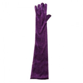 Guantes Purpura Largo Adulto